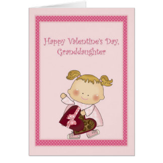 Happy Valentine Granddaughter, Heart Box Candy Card