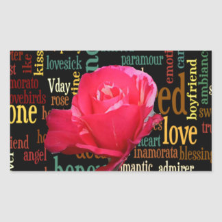 happy valentine in style.png rectangular sticker