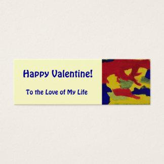 Happy Valentine Rainbow Colors Mini Book Mark Mini Business Card