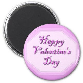 Happy Valentine;s Day 2 Inch Round Magnet