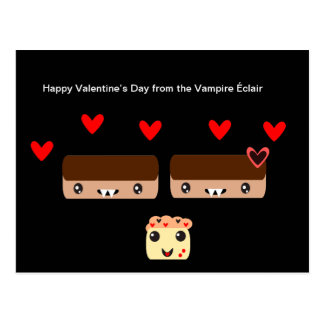 Happy Valentine's Day from the Vampire Éclair Postcard