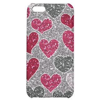 Happy Valentine s Day Glitter Love Bling Hearts iPhone 5C Cases