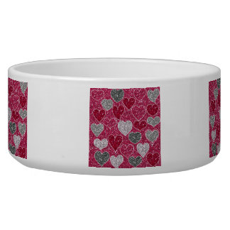 Happy Valentine s Day Glitter Love Bling Hearts Pet Food Bowls