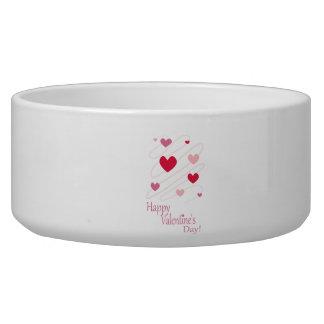 Happy Valentine s Day Hearts Dog Bowls