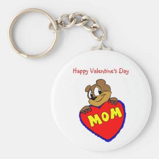 Happy Valentine s Day Mom Keychain
