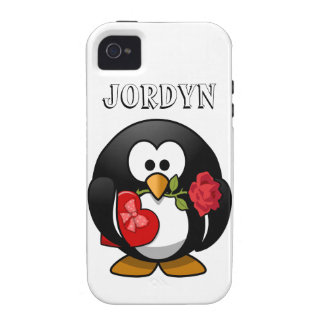 Happy Valentine s Day Penguin Case For The iPhone 4