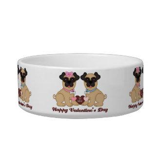 Happy Valentine s Day Pug Valentine Gifts Cat Food Bowls