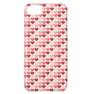 Happy Valentine s Day Red Pink Hearts Pattern iPhone 5C Cover
