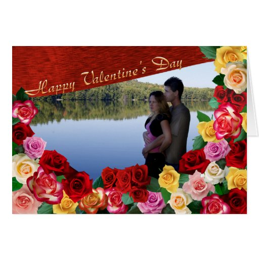 Happy Valentine's Day Roses Photo Card