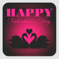 Happy Valentines Day Square Sticker