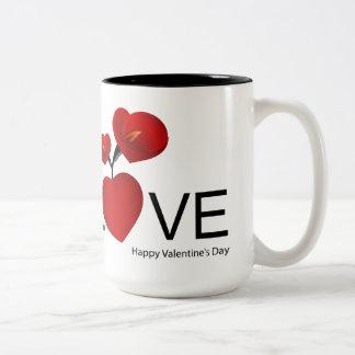 Happy Valentine' S Day - Two-Tone Coffee Mug