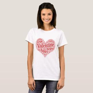 Happy Valentine Tee Shirt with Word Mosaic