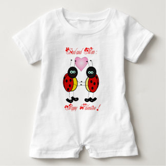 Happy Valentine to mom and dad - Baby Romper