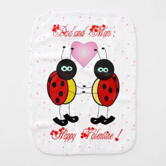 Happy Valentine to mom and dad - Burp Cloth
