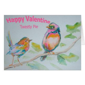 Happy Valentine Tweety Pie Stationery Note Card