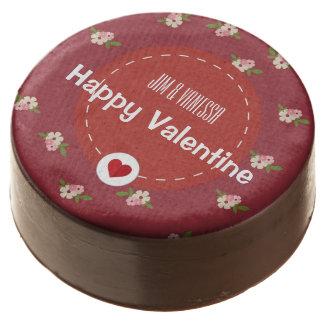 Happy Valentine Vintage Flower Cake Chocolate Covered Oreo