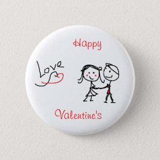 Happy Valentine's 2 Inch Round Button