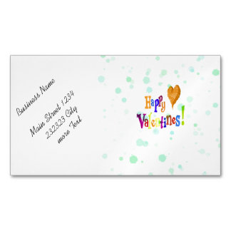 happy valentines business card magnet
