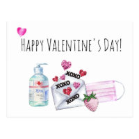 Happy Valentine's Day 2021  Quarantine Postcard