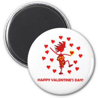 Happy Valentine's Day 2 Inch Round Magnet