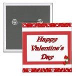 Happy Valentine's Day 2 Inch Square Button