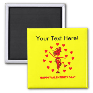 Happy Valentine's Day 2 Inch Square Magnet