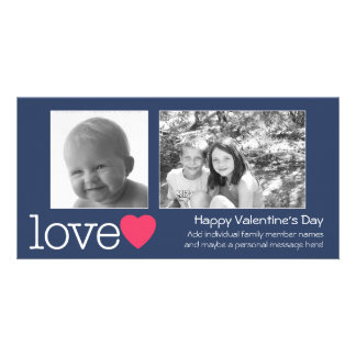 Happy Valentines Day - 2 photos - horizontal Card