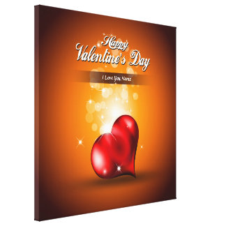 Happy Valentine's Day 4 Wrapped Canvas Canvas Prints