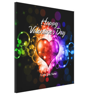 Happy Valentine's Day 5 Wrapped Canvas Stretched Canvas Print