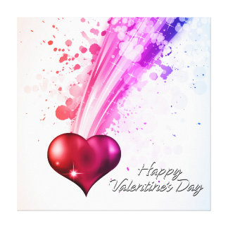 Happy Valentine's Day 6 Wrapped Canvas Canvas Prints