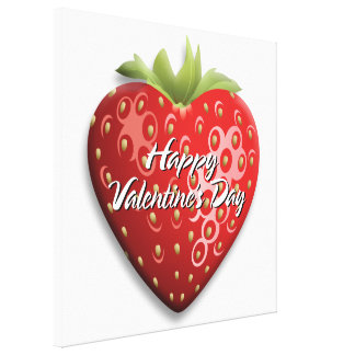 Happy Valentine's Day 8 Wrapped Canvas Canvas Prints