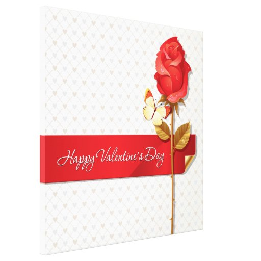 Happy Valentine's Day 9 Wrapped Canvas