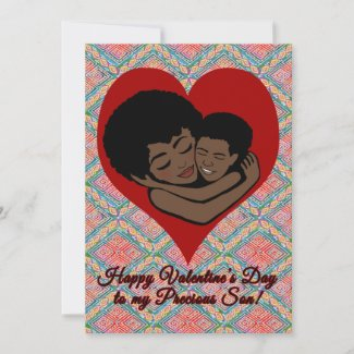 Happy Valentine's Day | African American Son Note Card