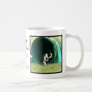Happy Valentine's day Agility Boston Terrier mug