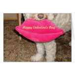 Happy Valentine's Day and a Kiss from our Dog! Card
