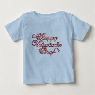Happy Valentines Day Baby Shirt Blue