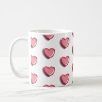 Happy Valentine's Day Balloon Coffee Mug (White)
