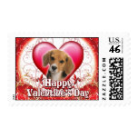 Happy Valentines Day Beagle Postage