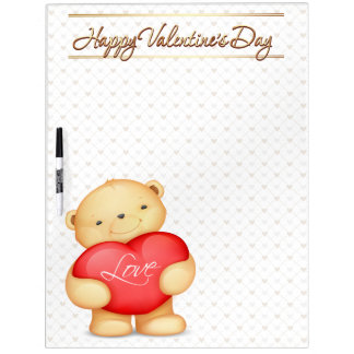 Happy Valentine's Day Bears Options 1-11 Dry-Erase Whiteboards