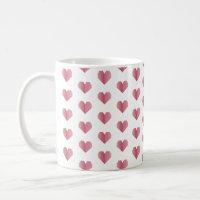 Happy Valentine's Day Beveled Coffee Mug (White)