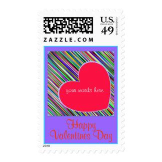 "Happy Valentines Day. ""BIG HEART"". postage"