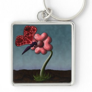 Happy Valentine's Day: Blooming Love keychain