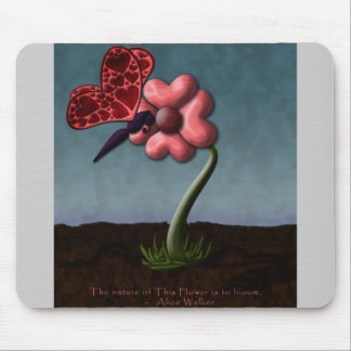 Happy Valentine's Day: Blooming Love Mouse Pad