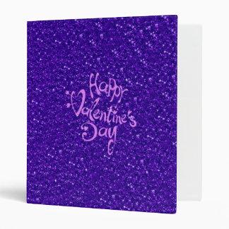 happy Valentines Day, blue 3 Ring Binder