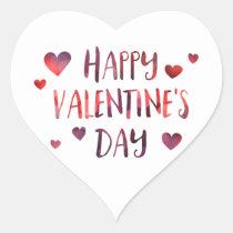 happy valentine's day bokeh heart sticker