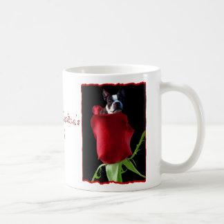 Happy Valentine's Day Boston Terrier Mug