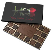 Happy Valentine's Day Box of Chocolates Red Rose