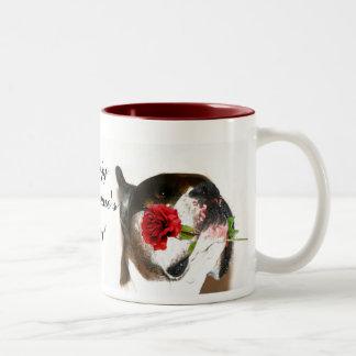 Happy Valentine's Day Boxer dog mug