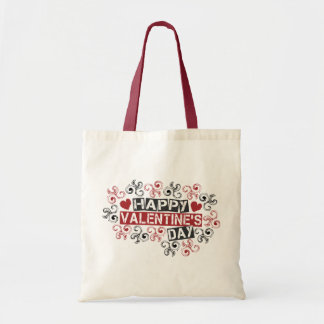 happy valentine's day budget tote bag