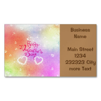 happy valentines day business card magnet